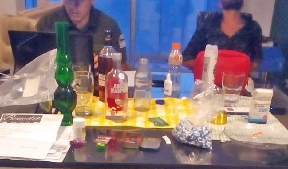 """SECUESTRO. En la causa """"Narcos Vip"""" de la casa de uno de los detenidos la policía secuestró gran cantidad de cristal."""