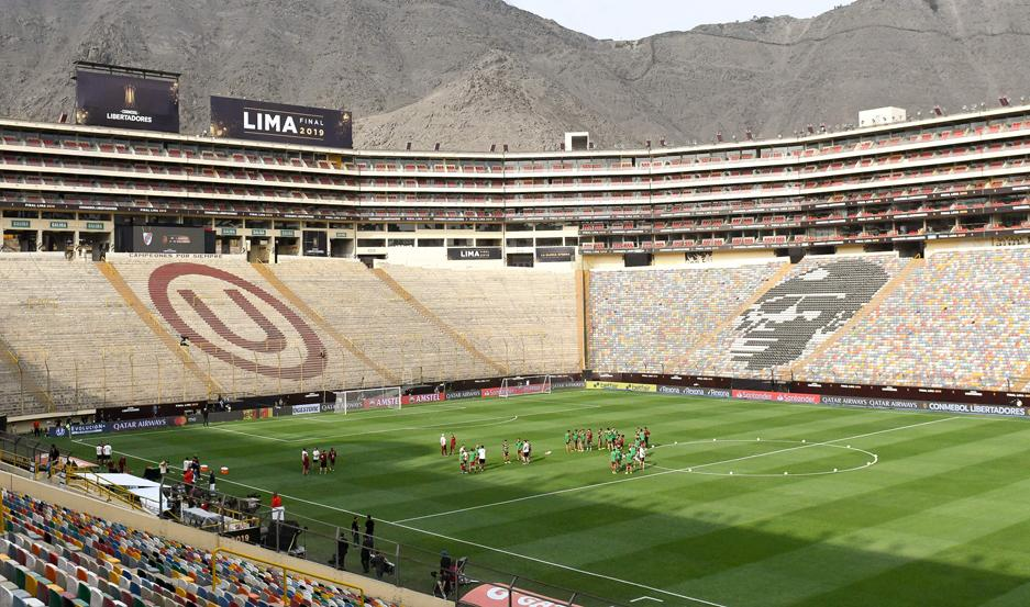El estadio Monumental de Lima será sede de la final de esta tarde.