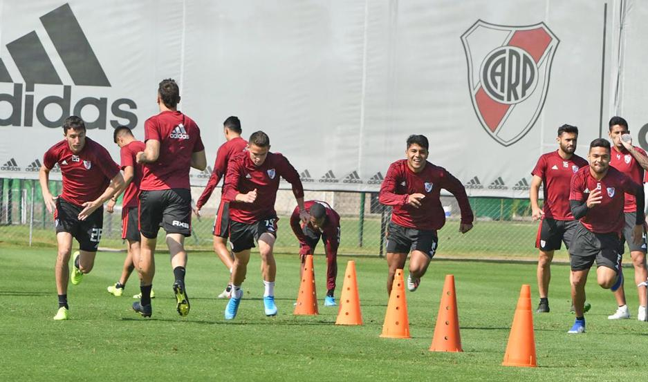 TAREA. El plantel de River ya tiene a Newell's como el próximo objetivo en la Superliga donde concentrará su atención para seguir en carrera por el título.