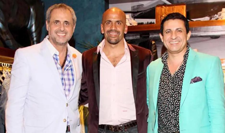 Jorge Rial, Juan Sebastián Verón y Arce, en una foto de la campaña lanzada en 2013