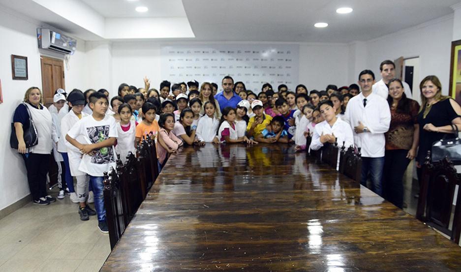 EXPERIENCIA. Viajaron 70 alumnos que cursan de 4º a 7º grado.