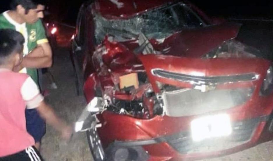 Las víctimas se conducían en un Chevrolet Agile.