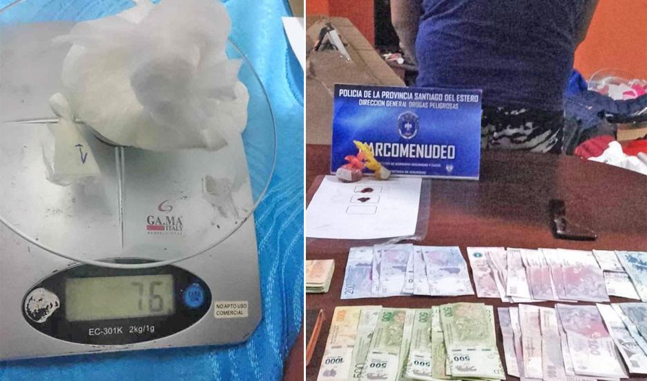DETENIDOS. Los imputados, uno de ellos detenido con más de $14.000, fueron trasladados a la base de Drogas.