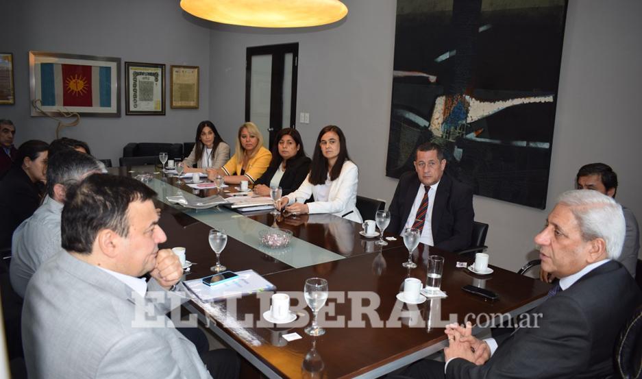 El vicegobernador de la Provincia recibió al ministro de Economía.