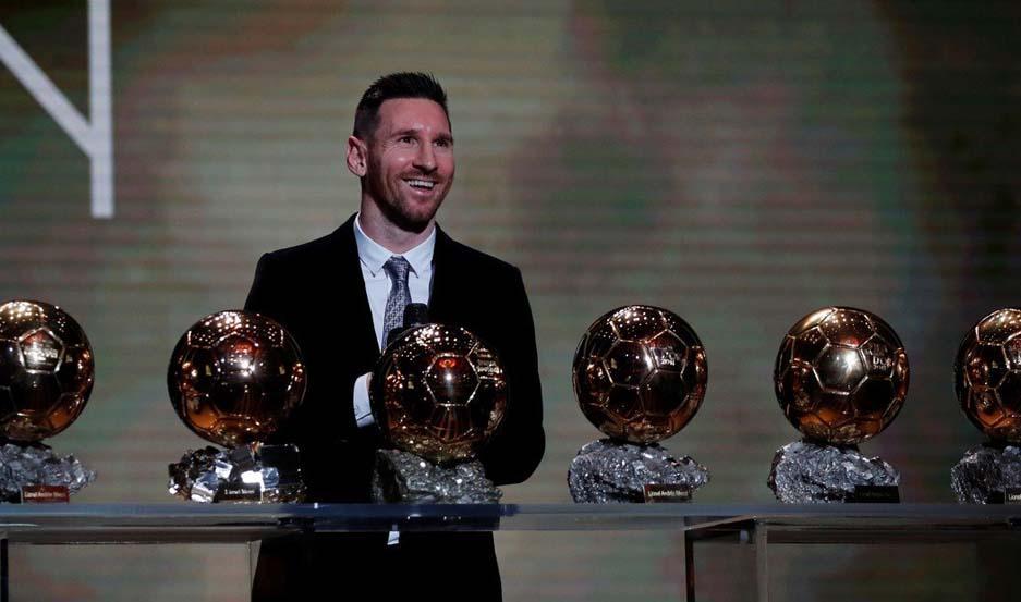 Lionel Messi logró su sexto Balón de Oro.