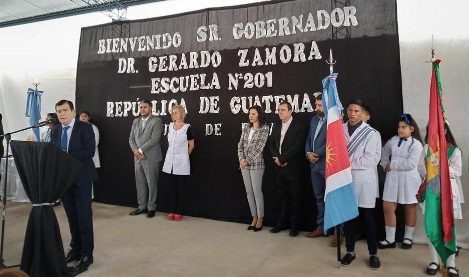 El discurso central estuvo a cargo del gobernador Gerardo Zamora.
