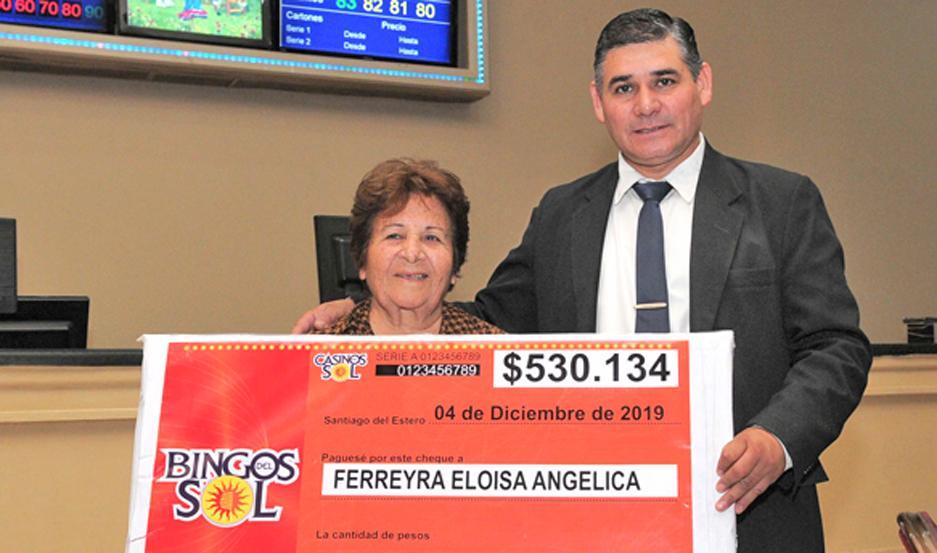 Eloísa Angélica Ferreyra se llevó la suma de 530.134 pesos.