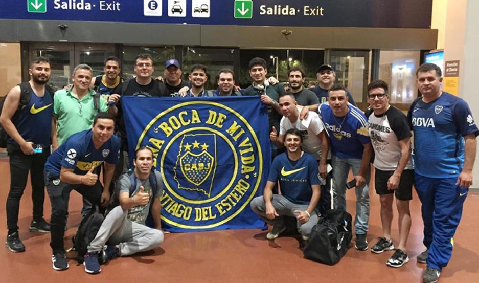 """Socios de la asociación """"Peña Boca de Mi Vida"""" viajaron desde Santiago del Estero, para votar en las elecciones en Boca Juniors."""