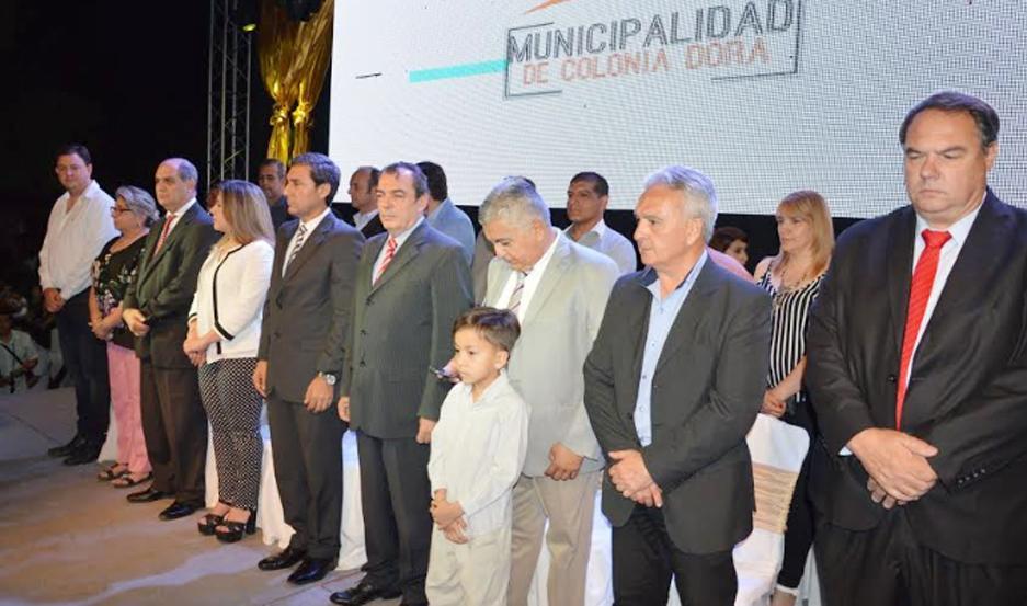 El acto por el nuevo aniversario de Colonia Dura fue encabezado por el vicegobernador Dr. Carlos Silva Neder, y la intendenta Marcela Mansilla.
