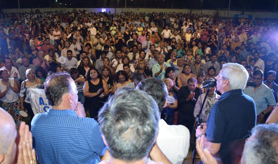 MASIVO. Autoridades agradecieron la convocatoria multitudinaria.