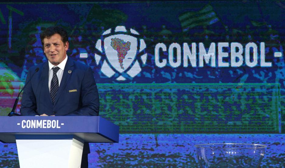 ACTO El sorteo se llevó a cabo en la Confederación Sudamericana de Fútbol (Conmebol) en Luque, Paraguay