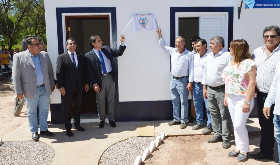El vicegobernador Silva Neder inauguró destacamento policial en Pellegrini.