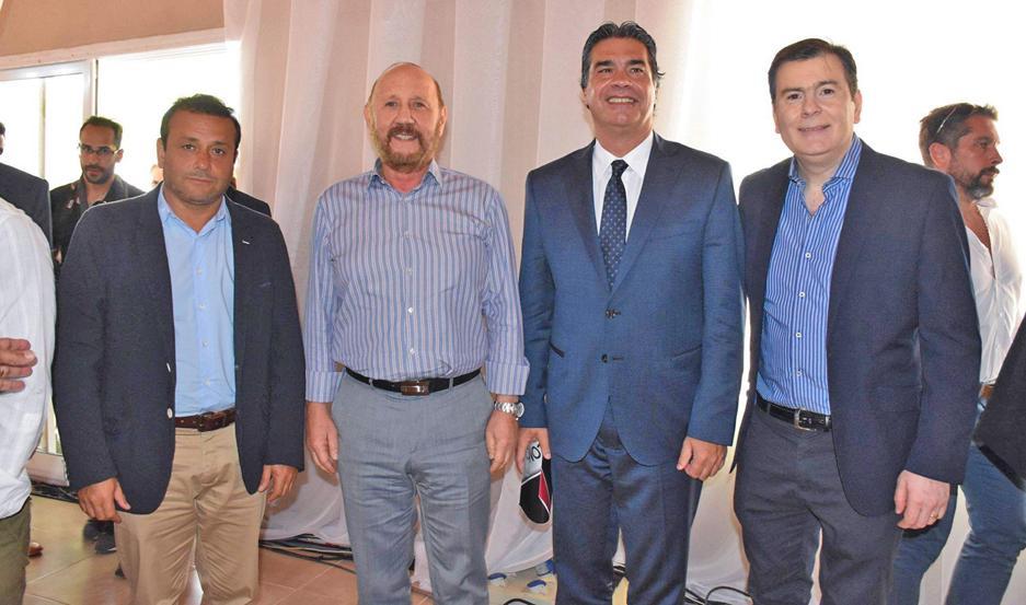 ACUERDO. Los gobernadores Herrera Ahuad, Insfrán, Capitanich y Zamora dialogaron distendidos luego de la ceremonia de firma del convenio.