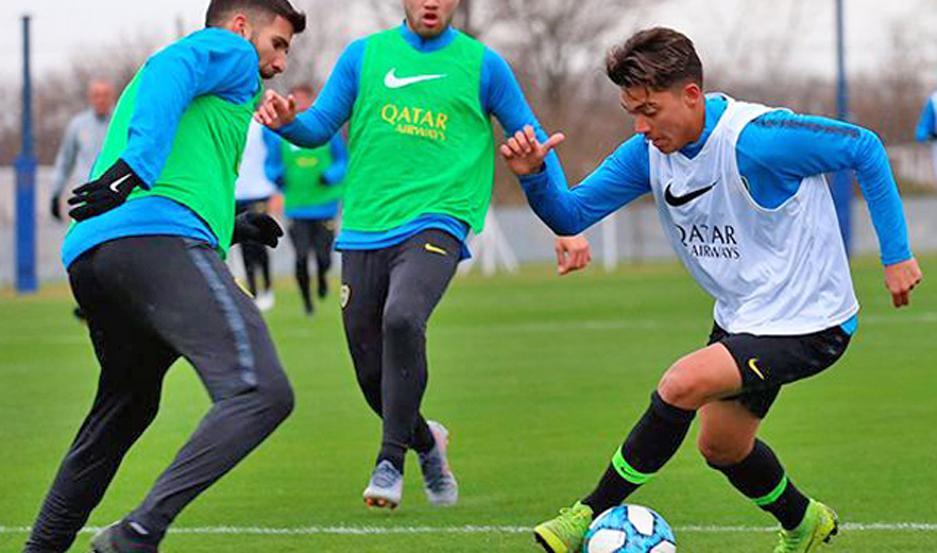 Zeballos se entrenará desde mañana con el plantel superior de Boca Juniors.