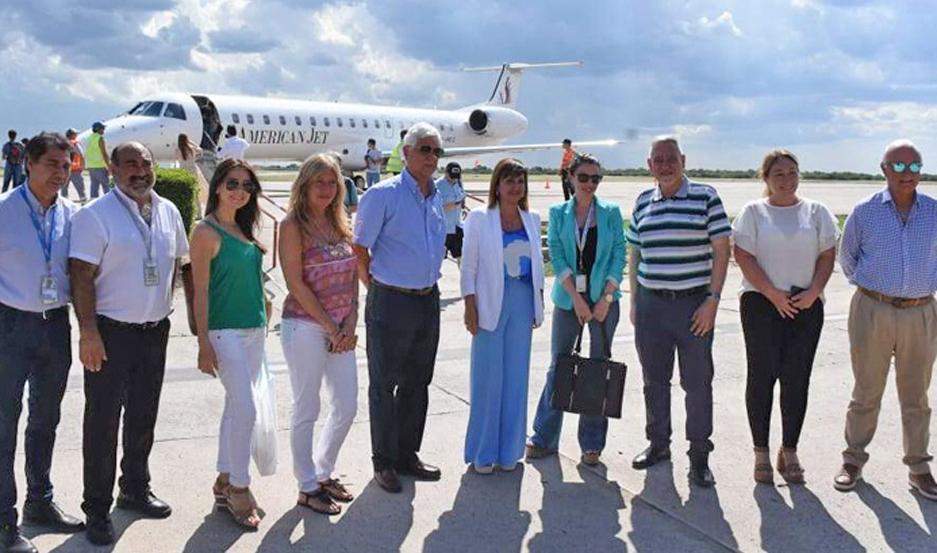Los viajantes fueron recibidos por la intendenta Norma Fuentes.