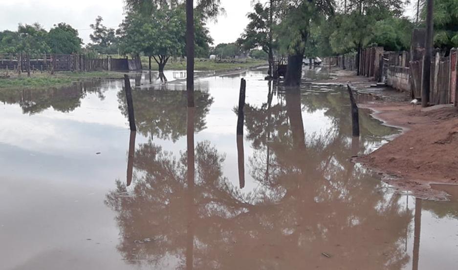 MORENO. En la localidad de Weisburd las precipitaciones alcanzaron los 170 milímetros, lo que dejó parte del pueblo y sus calles anegadas.