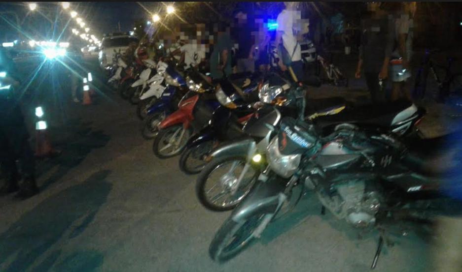 Las motos secuestradas.
