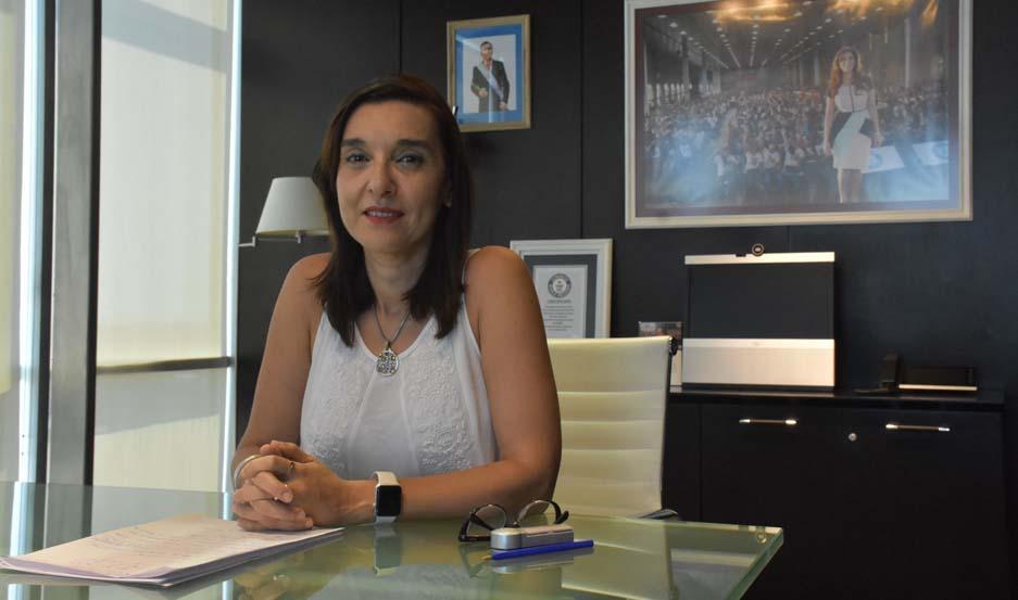 Ministra de Educación, Ciencia y Tecnología de Santiago del Estero, Dra. Mariela Nassif.