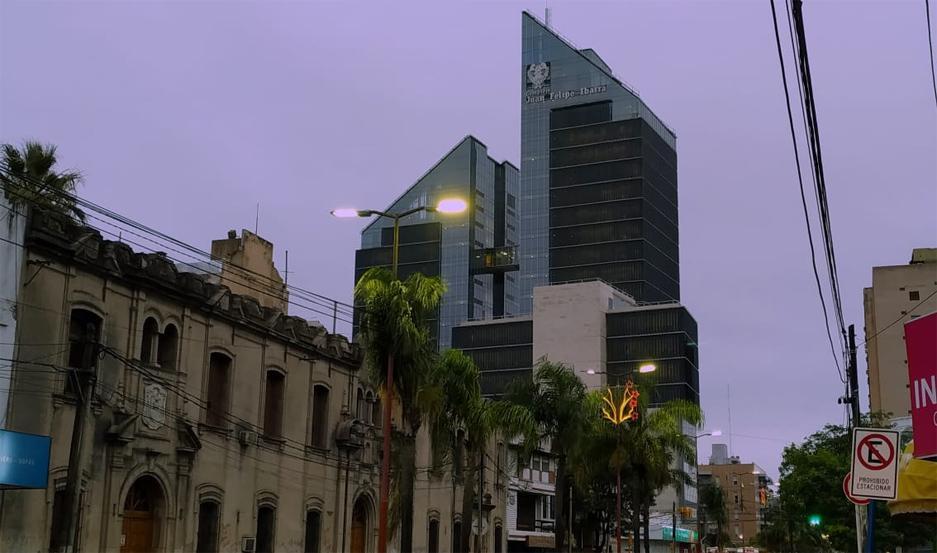 El cielo de Santiago, al amanecer.