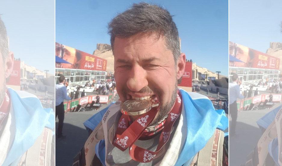 El santiagueño se subió al podio del Dakar 2020.