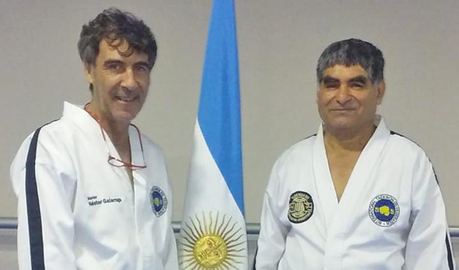 VIAJE. El atleta rindió para Master Séptimo Dan en la Asociación Argentina de Taekwondo Internacional, con sede en Buenos Aires.