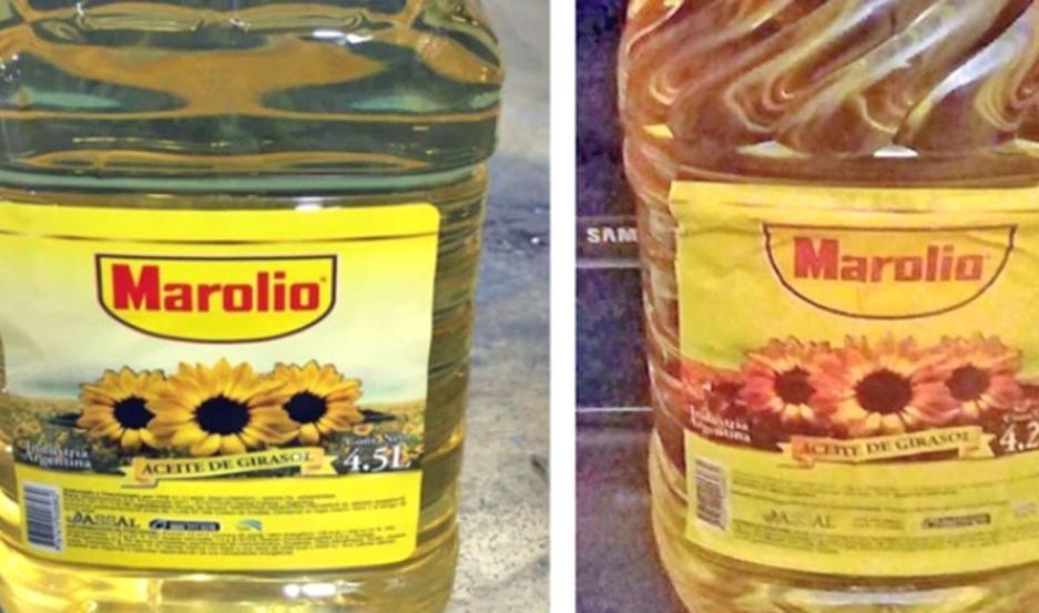 RIESGO. Se advirtió que se vendía un aceite utilizando una conocida marca, la que no elaboró ese producto.