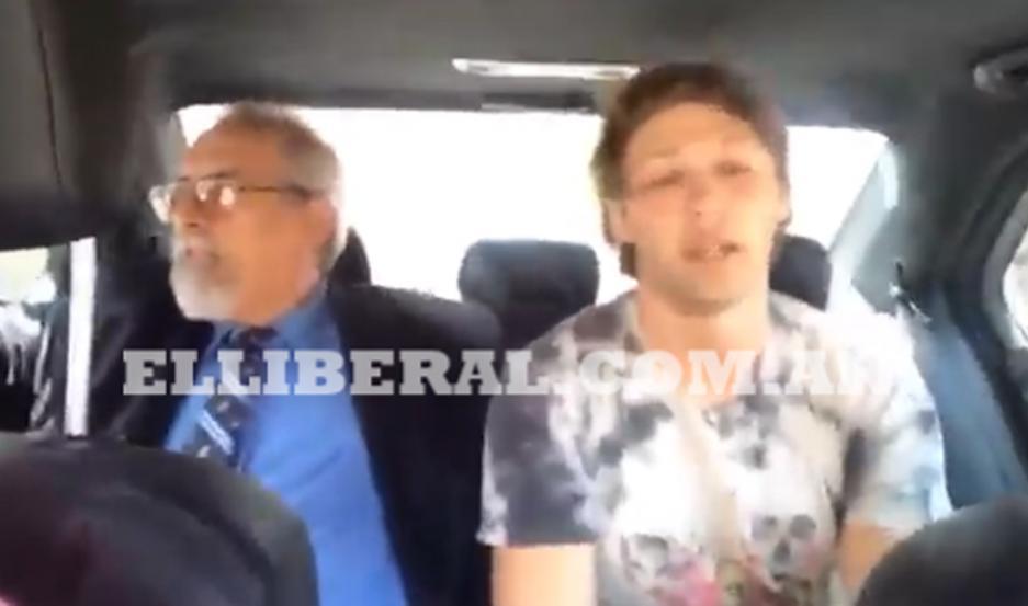 En un corto video, el deportista explica que va a ingresar detenido en el Centro Judicial de La Banda.