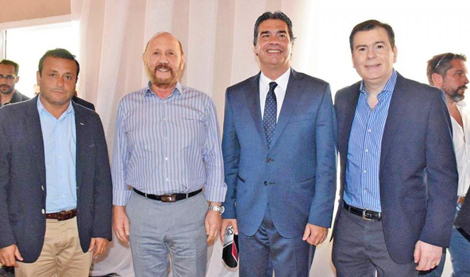 OBRAS. El gobernador Zamora estuvo con Capitanich, en diciembre, en una reunión junto a Herrera Auad e Insfran.