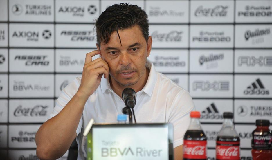 CAUTELA. Marcelo Gallardo, entrenador de River Plate, prefiere mantener el perfil bajo y apuesta a seguir sumando para ganar su primera Superliga.