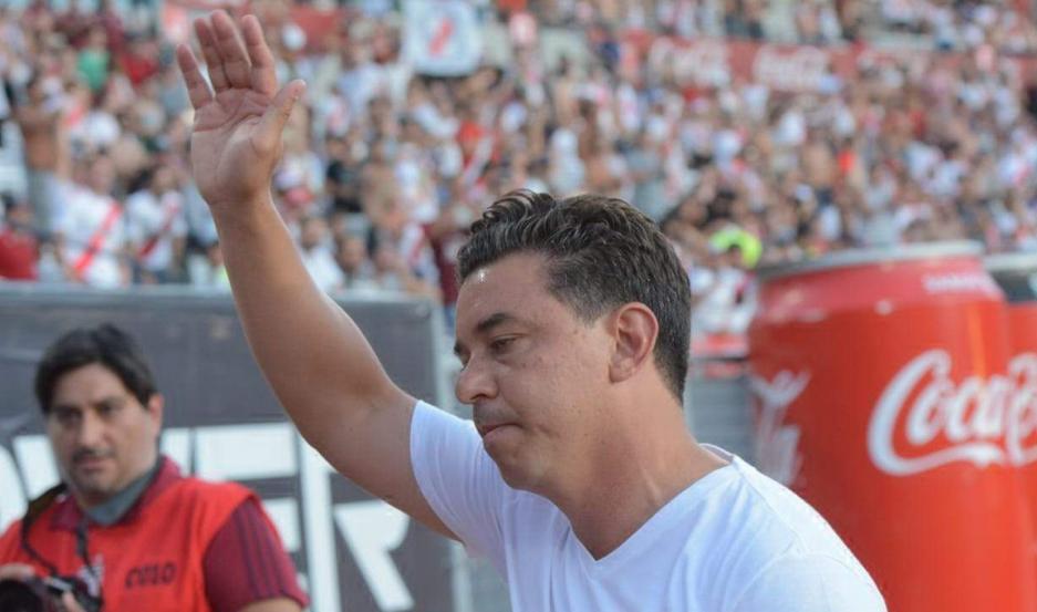 """VISIÓN. El """"Muñeco"""" ponderó a River por la forma en que supo contrarrestar la expulsión del defensor chileno Paulo Díaz, al inicio del primer tiempo."""