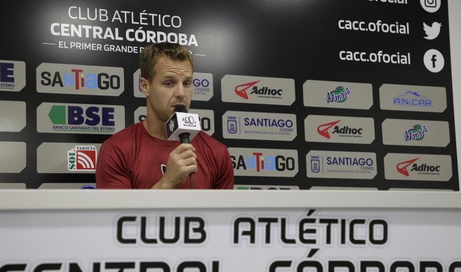 AUTOCRÍTICA. El arquero de Central Córdoba, Diego Rodríguez, analizó la derrota ante River, pero se focalizó en ganar puntos ante Aldosivi
