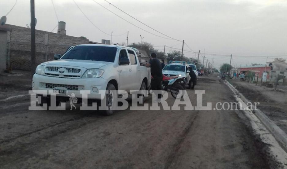 La policía de Añatuya realizó un amplio despliegue para dar con el agresor.