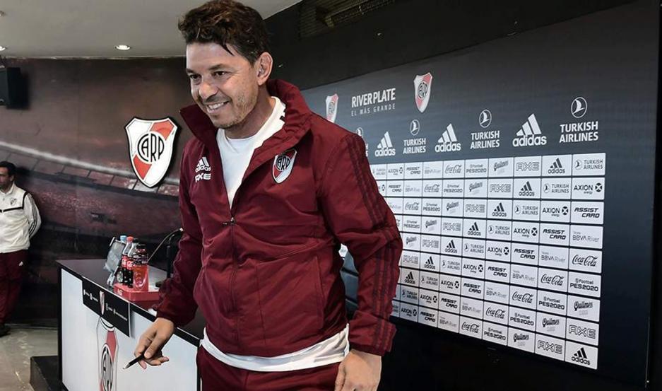 COMPROMISO. Marcelo Gallardo comentó que está al tanto de todo lo que hizo el equipo durante su ausencia.