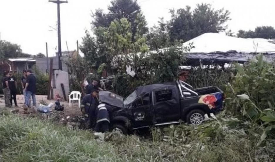 Fuentes policiales informaron que en la camioneta no viajaba el líder del grupo, Pablo Lescano.