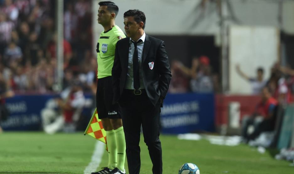 SATISFACCIÓN. Marcelo Gallardo, junto a su equipo a pesar de no estar en plenitud física.
