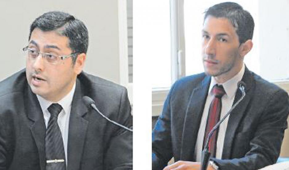 PARTES. Ángel Belluomini, fiscal y Carlos Ríos López, abogado defensor del detenido. El sujeto está preso desde el 2017.