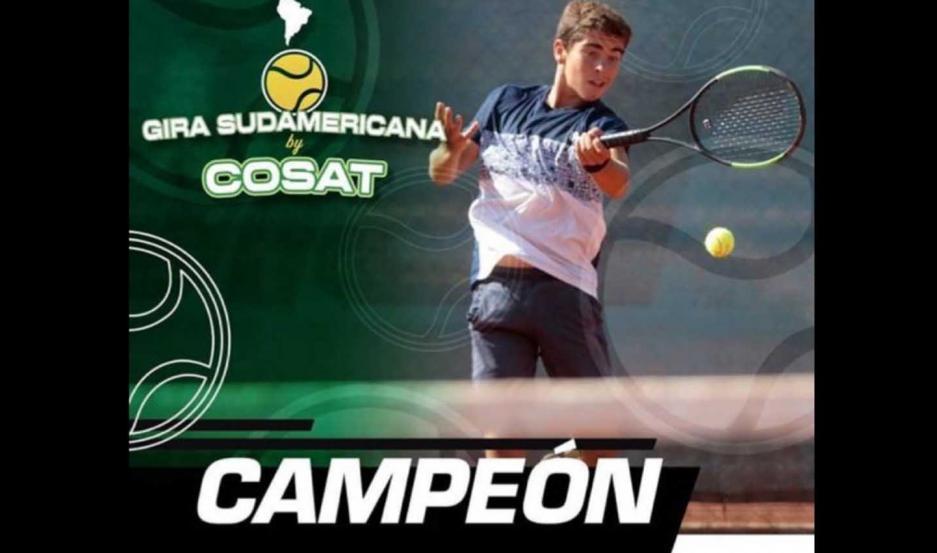 El tenista de Santiago del Estero salió campeón en dos categorías que jugó en Chile.