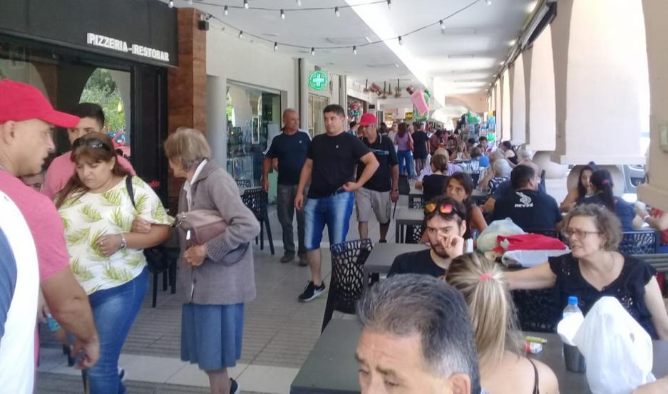 ACTIVIDAD. El sector gastronómico trabajó muy bien debido a la presencia de numerosos turistas.