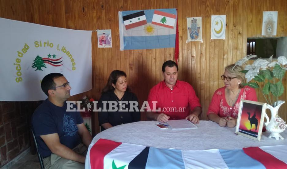 La secretaria general de la Unión Libanesa Mundial de la República Argentina visitó a la comisión directiva de la Sociedad Sirio Libanesa de Loreto.