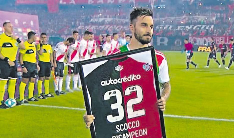 ILUSIÓN. Ignacio Scocco cumplirá 35 años en mayo y su deseo es el de terminar su carrera deportiva en Newell's, donde ganó dos campeonatos.