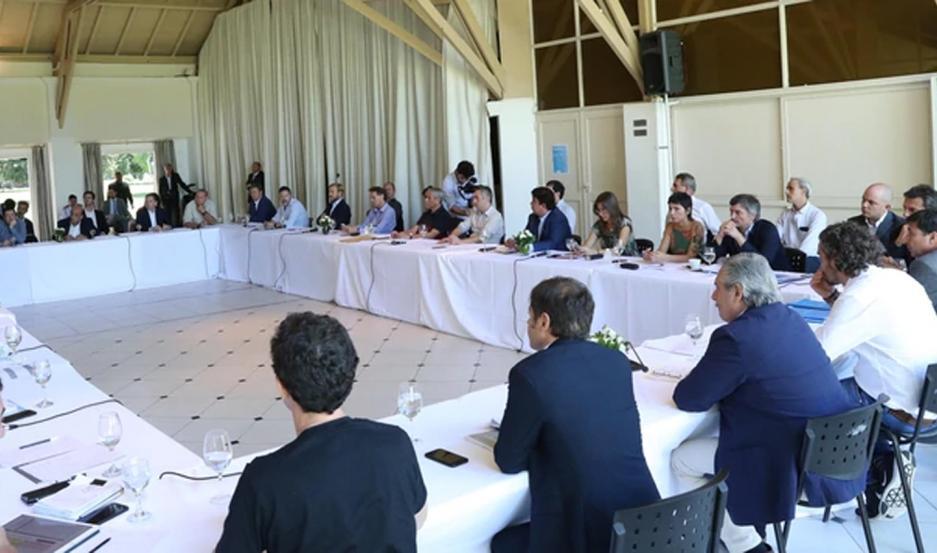 Fernández estuvo con los intendentes de la provincia de Buenos Aires evaluando el impacto de las medidas.