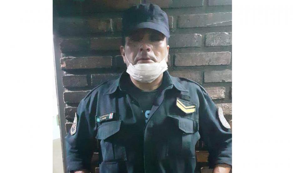 DETENIDO. El funcionario estaba inactivo en las filas policiales, ya que se le había iniciado una sumario y estaba en disponibilidad preventiva.