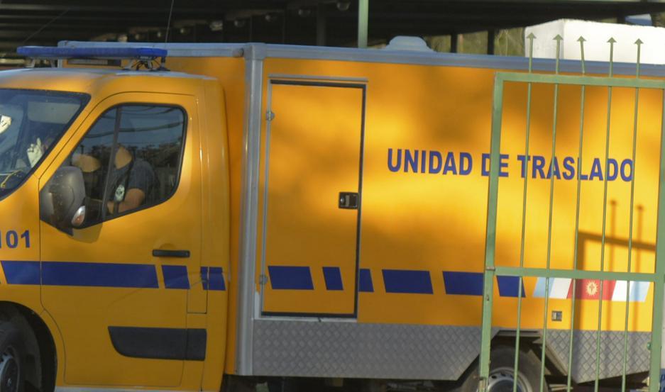 Policía trasladó los restos hasta la Morgue Judicial para el examen forense por disposición del Dr. Guzmán.