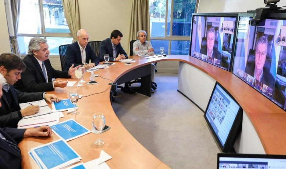 Alberto Fernández se comunicó nuevamente por videoconferencia con los gobernadores.