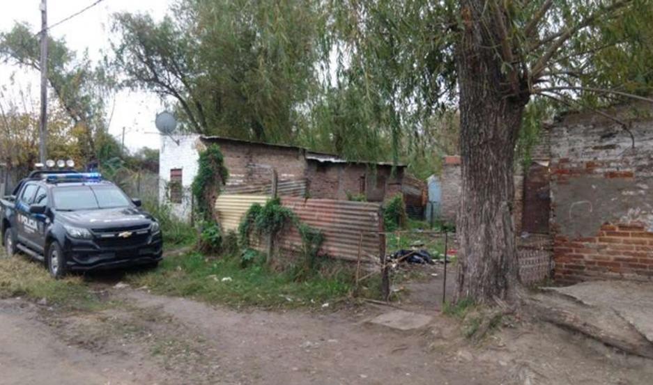 La casa donde vivía la joven con su femicida. FOTO: Telefé Santa Fe
