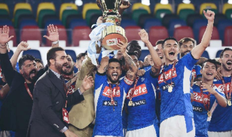 Napoli venció a la Juventus y se consagró campeón de la Copa Italia