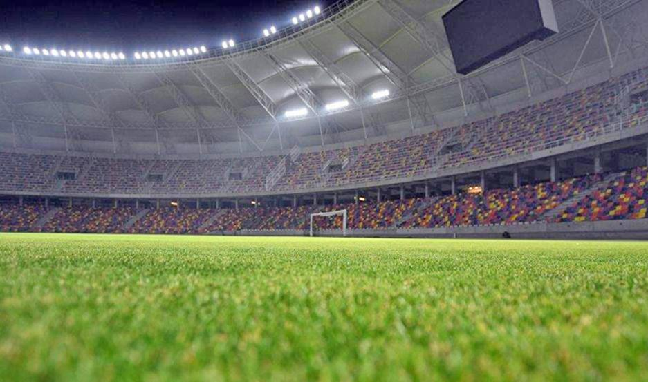 El estadio Único luce imponente a la vera del río Dulce y con los trabajos terminados para ser inagurado en fecha a confirmar.