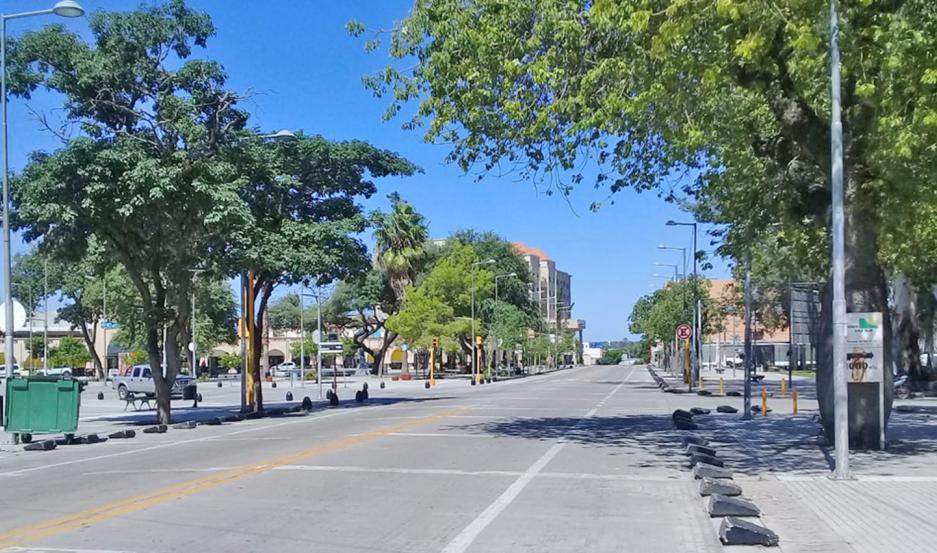 CIUDAD PARALIZADA. Desde que se inició el aislamiento social, la ciudad está sin movimiento por el coronavirus.
