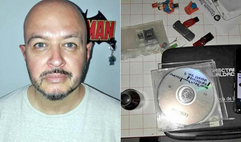PROCESO. París fue detenido el 26 de abril en su departamento y le secuestraron un frasco marrón. Ayer fue analizado y contenía aceite.