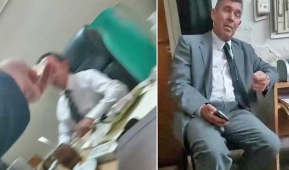CAPTURA. El contenido de las imágenes filmadas se habría viralizado rápidamente en el ámbito tribunalicio.